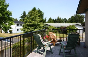 sundeck and treed view