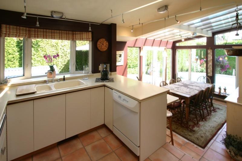 kitchen and solarium