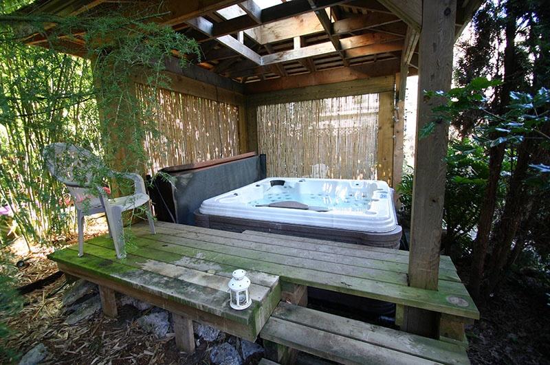 gazebo and hot tub
